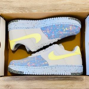 Nike Air Force 1 AF1 'Crater' Pure Platinum Volt